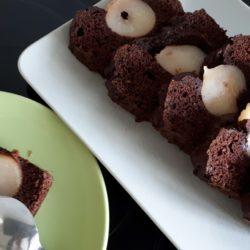 Cake chocolat poires healthy