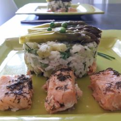 Risotto asperges saumon