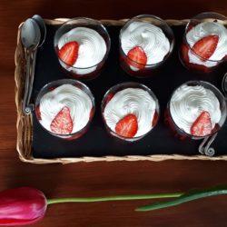 Mousse petit suisse fraises