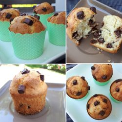 Muffins aux pépites chocolat