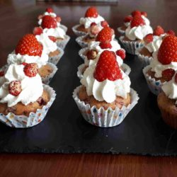 Muffins gourmands fruits rouges