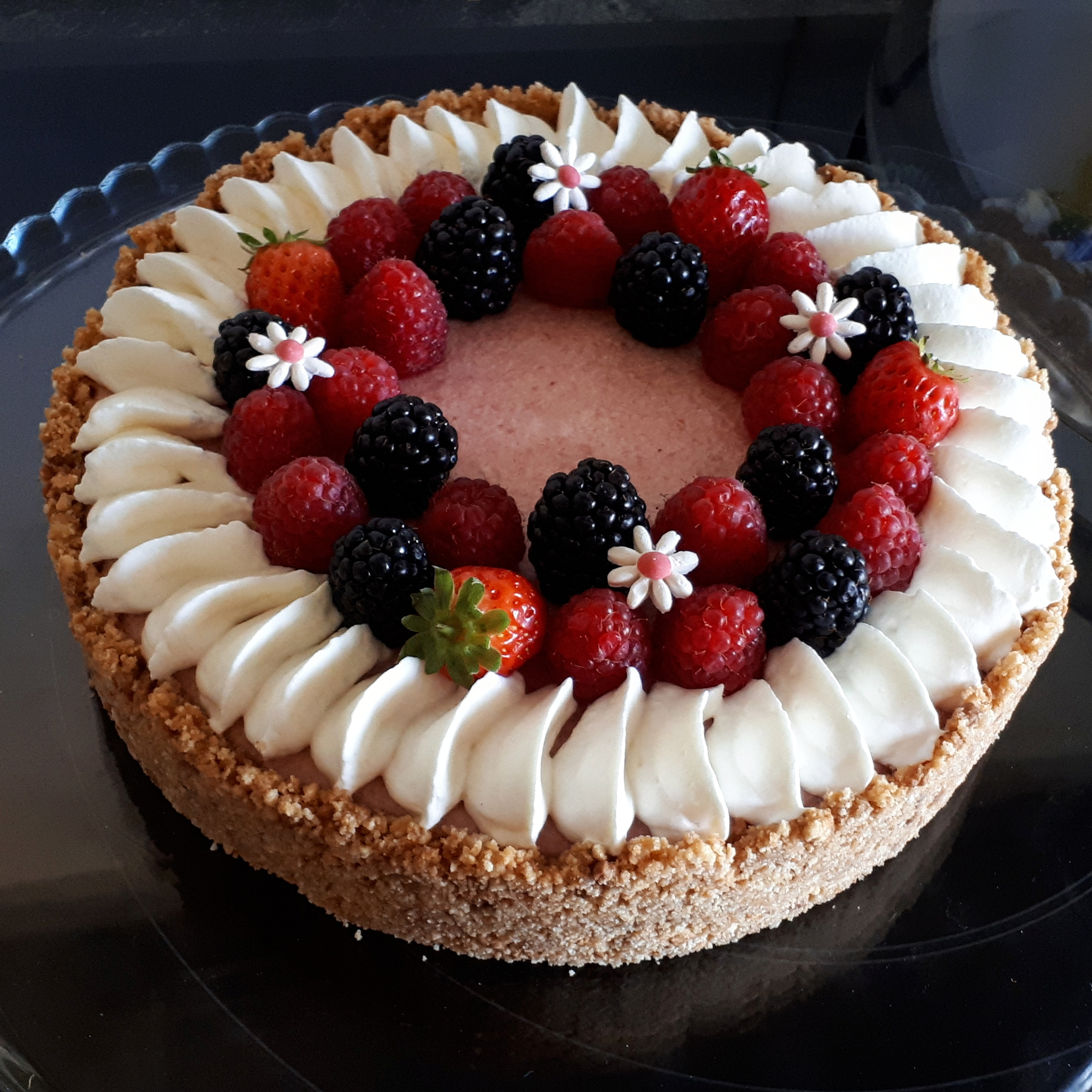 Gâteau fruits rouges