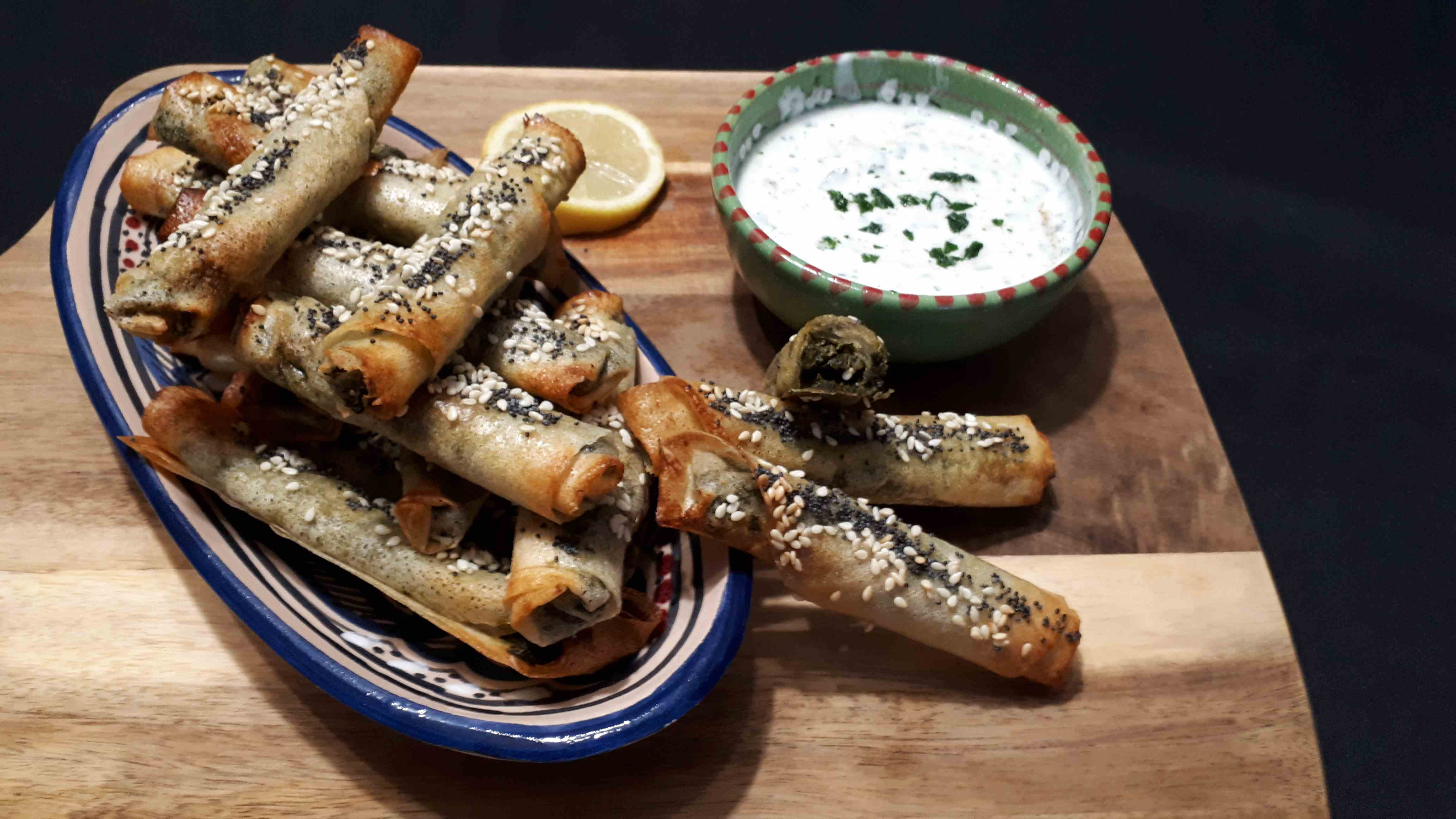Fingers épinards parmesan