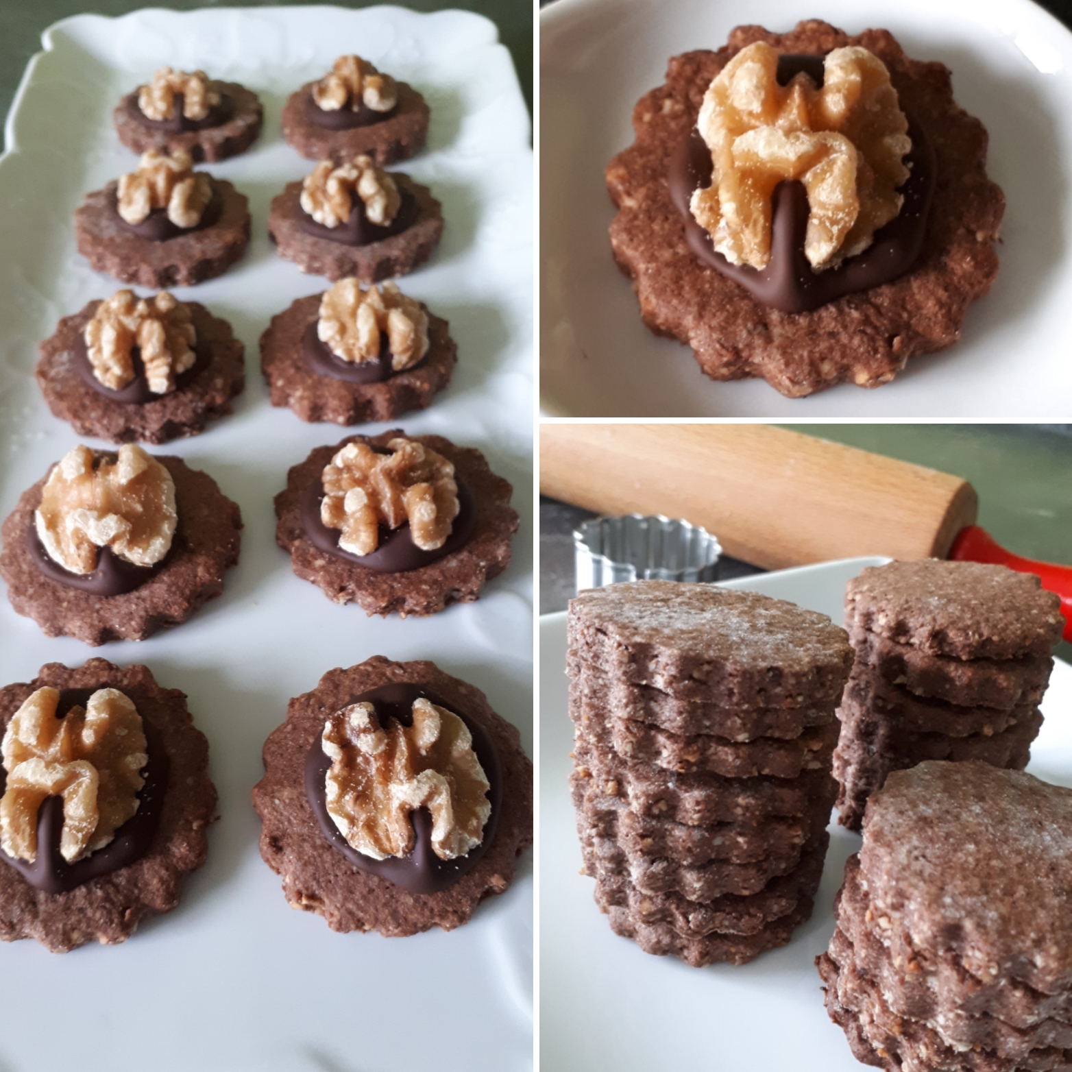 Sablés chocolat noix