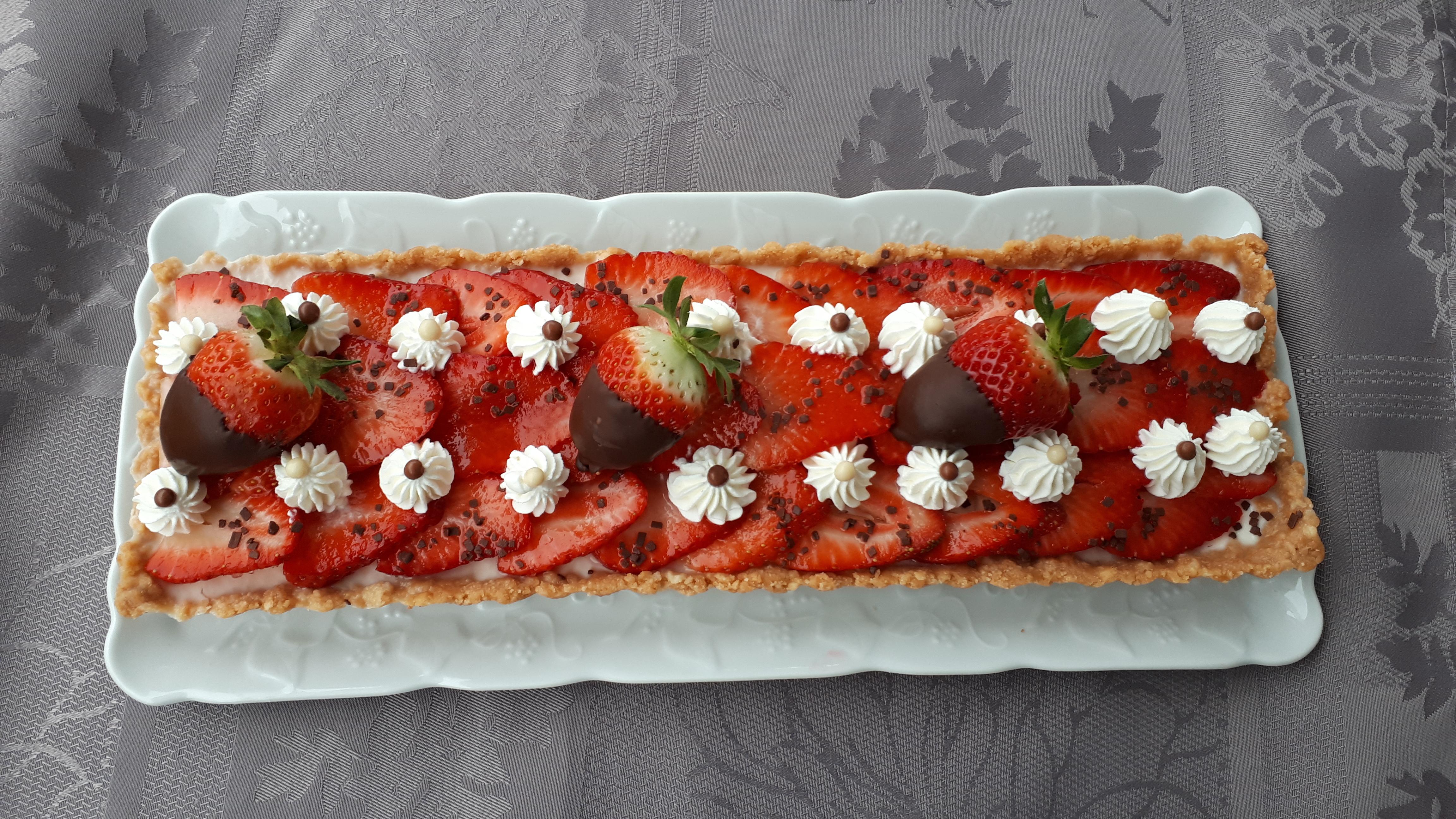 Tarte panna cotta fraises