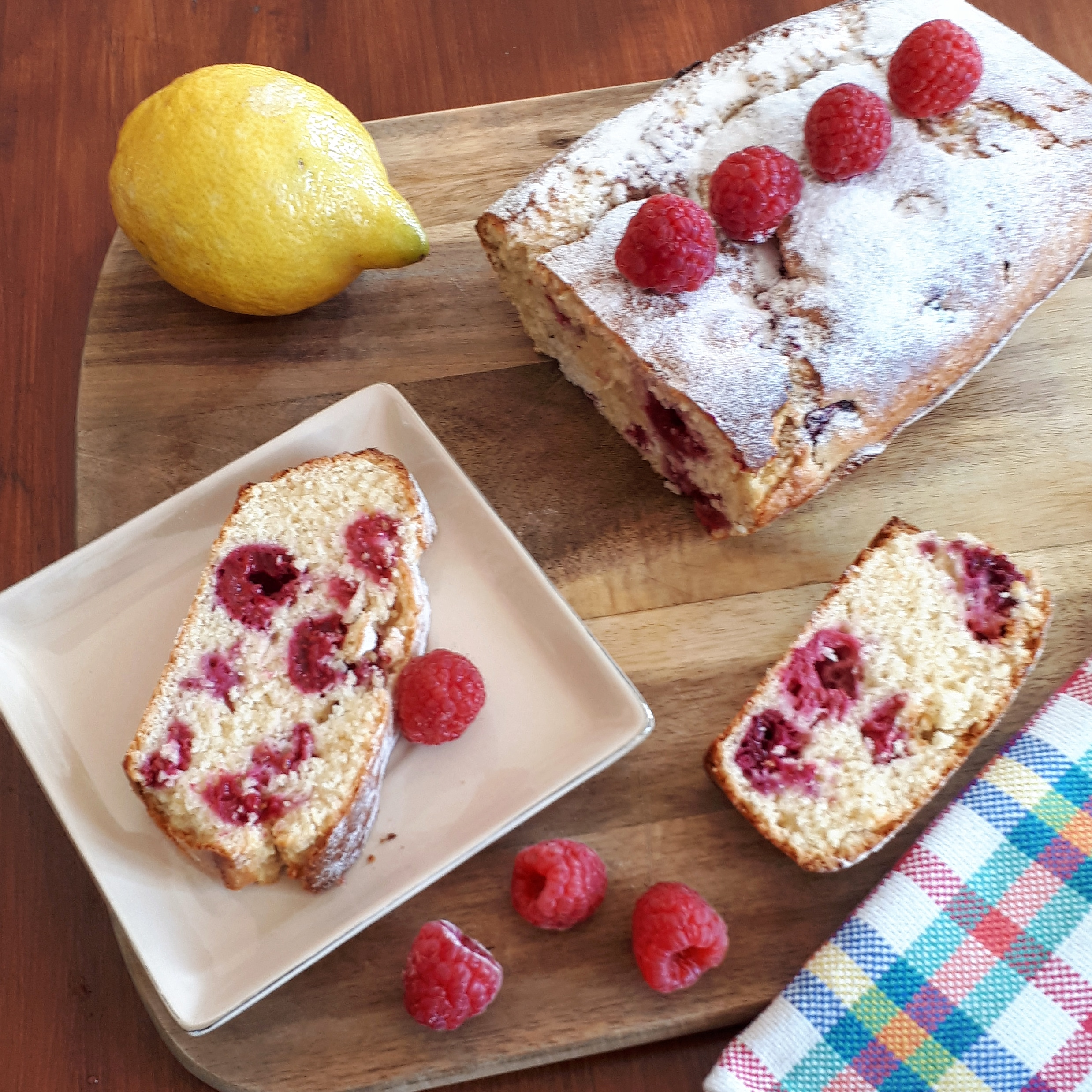 Cake citron framboise