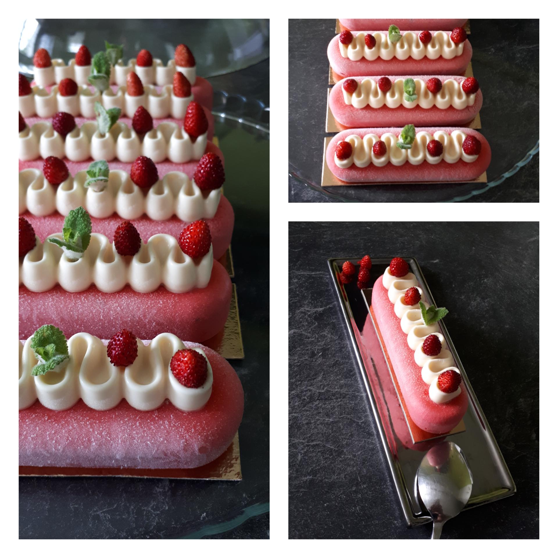 Éclairs entremets_fraises