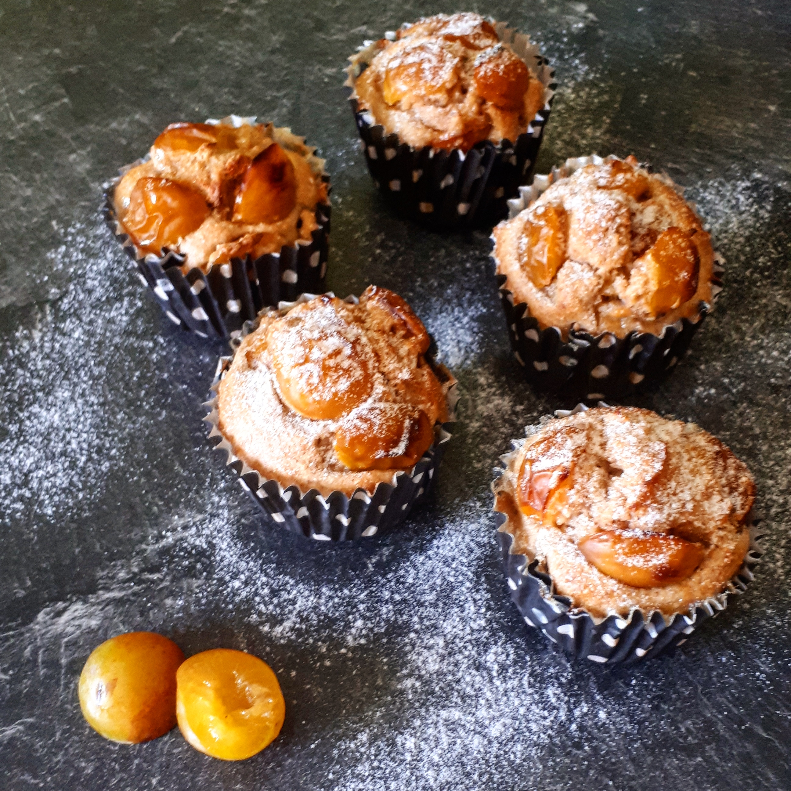 Muffins mirabelles healthy
