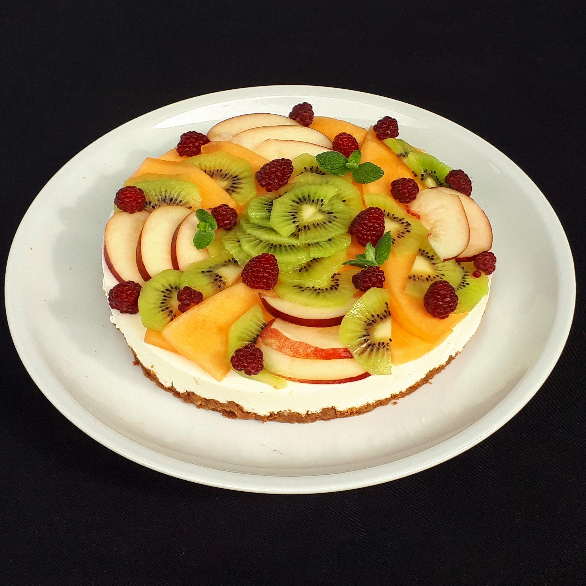 Gâteau fromage blanc aux fruits de saison