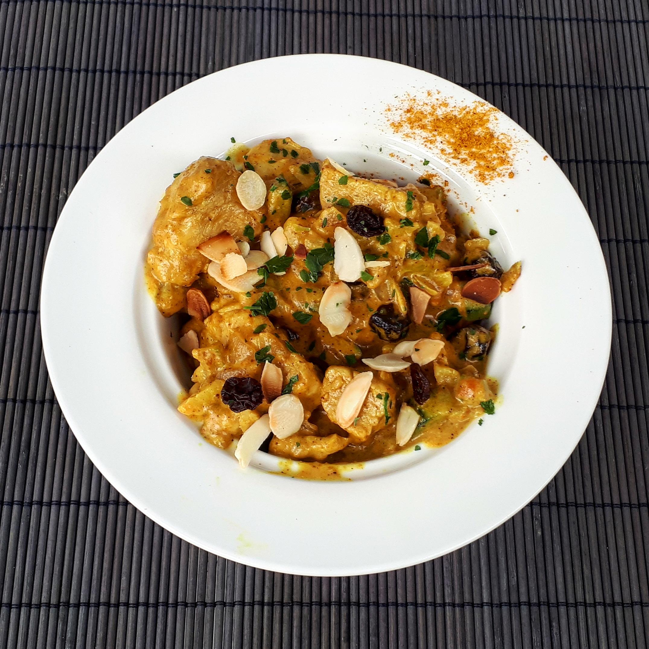 Curry de dinde à la crème coco