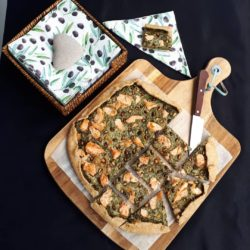 Tarte épinards saumon