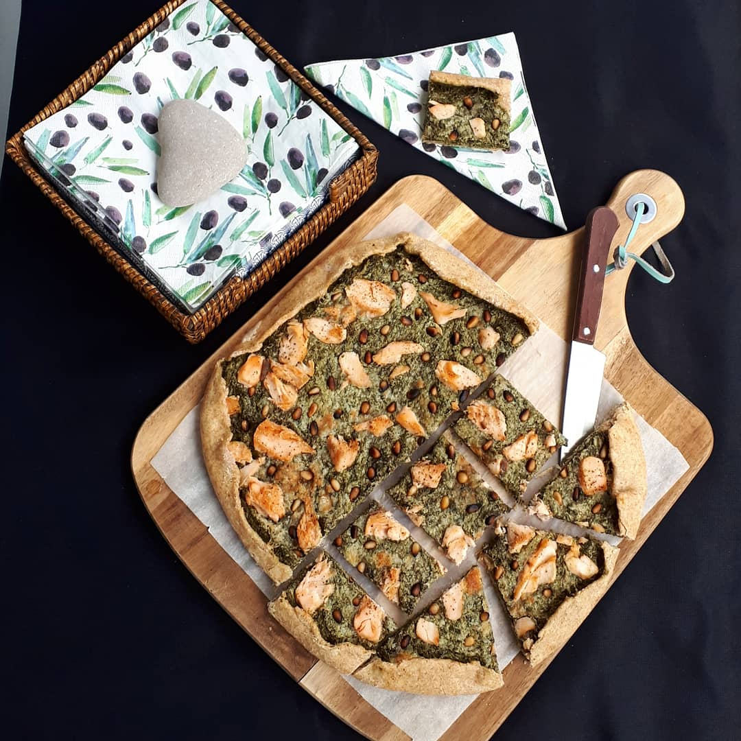 Tarte épinards saumon