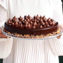 Entremet chocolat praliné