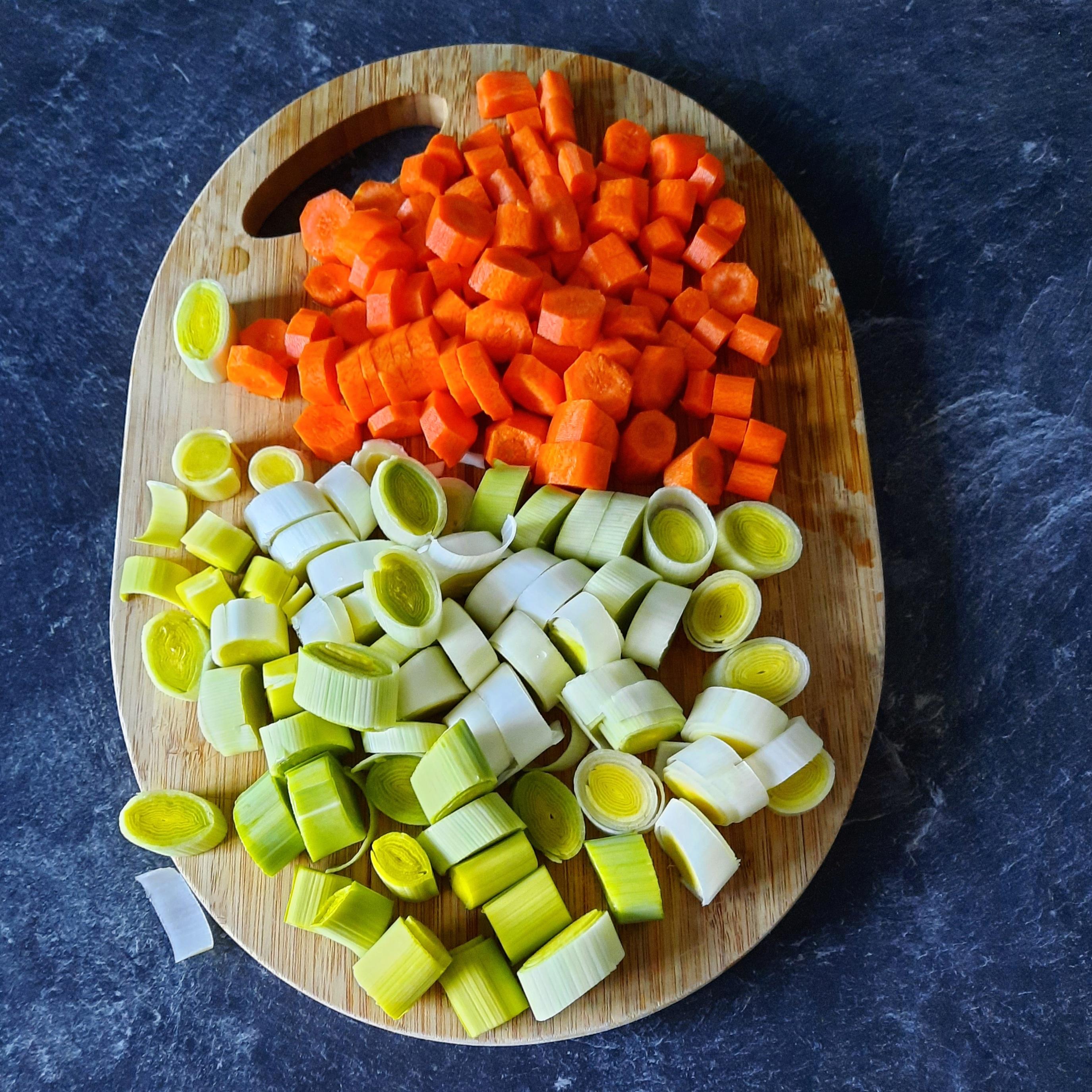 Curry poireaux carottes