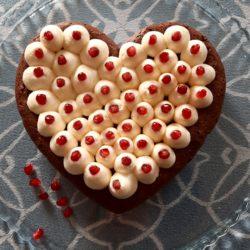Cœur fondant chocolat et sa crème vanille