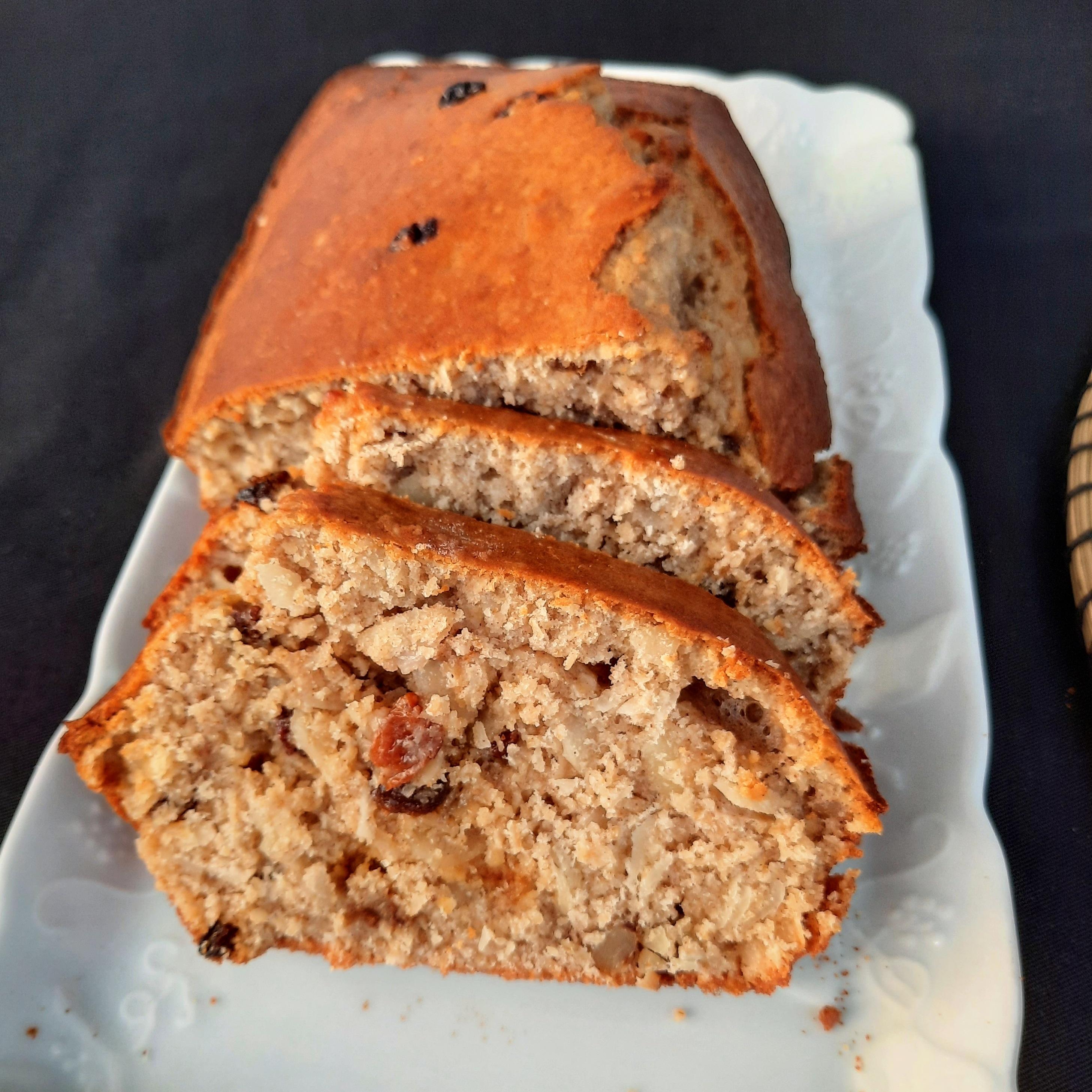 Cake aux fruits secs et son d'avoine