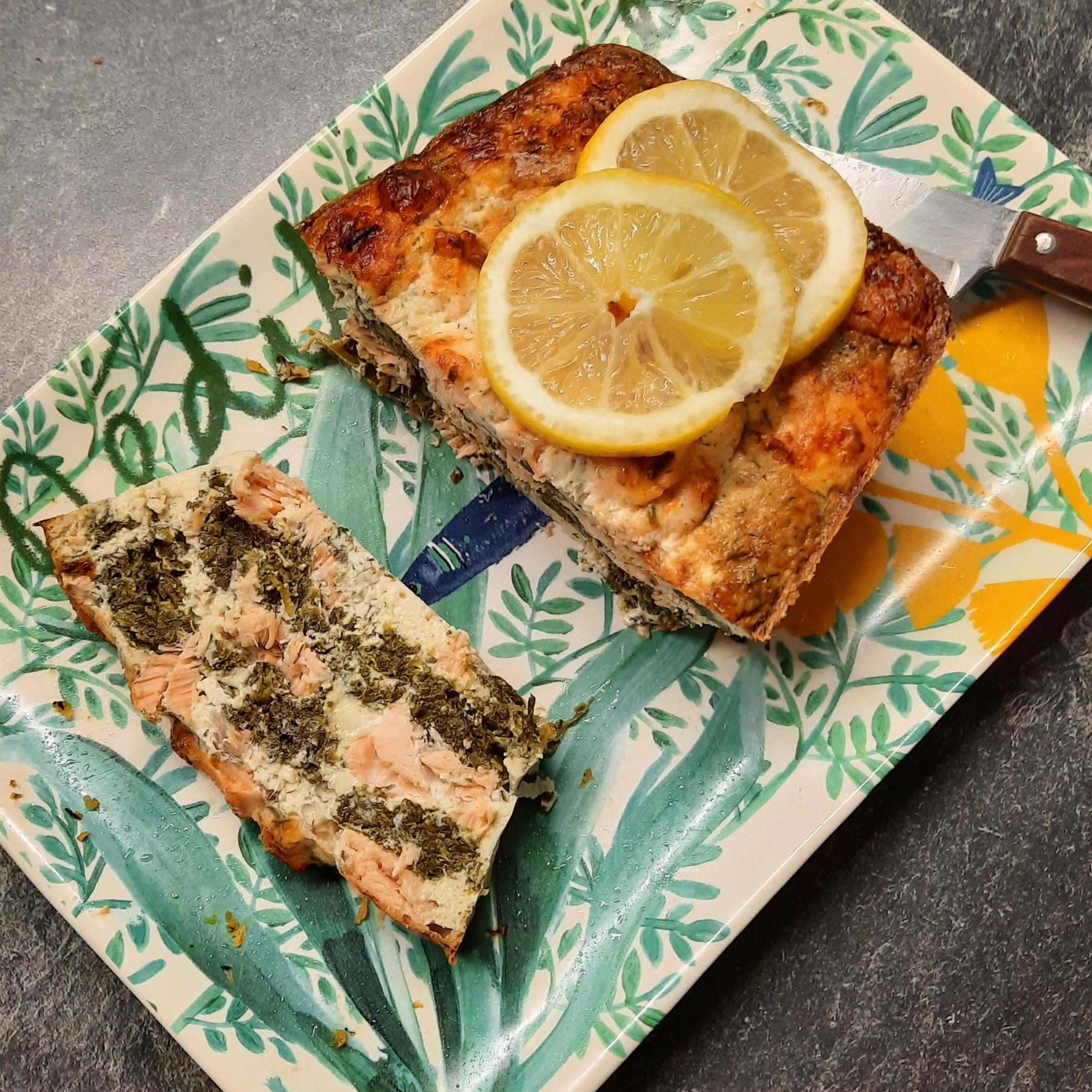 Terrine saumon épinards