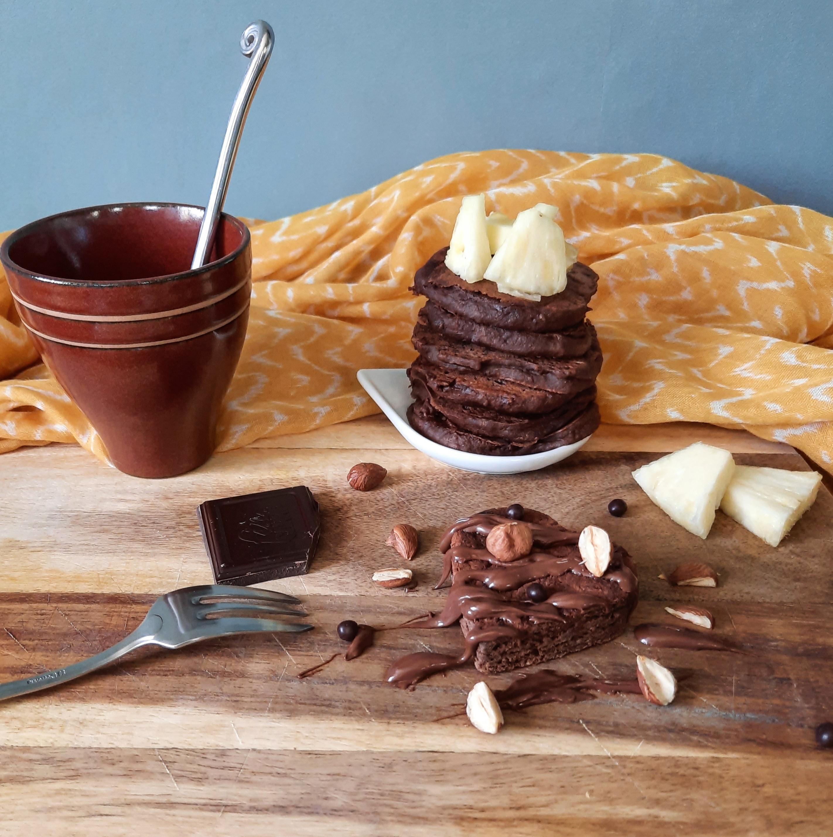Pancakes chocolat healthy