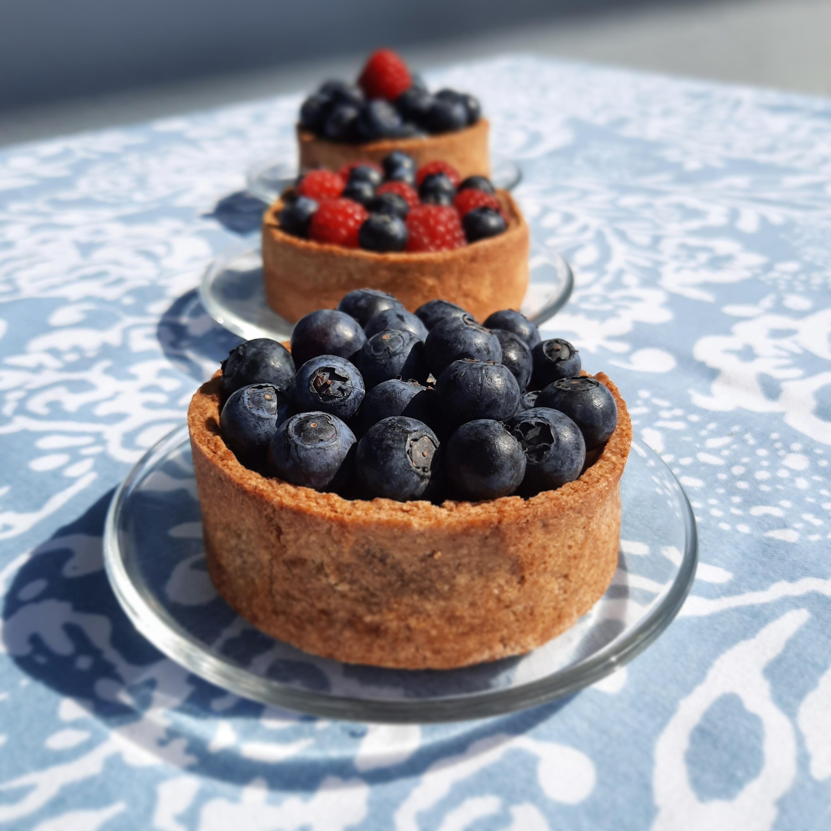 tarte aux fruits et crème d'amandes IG Bas