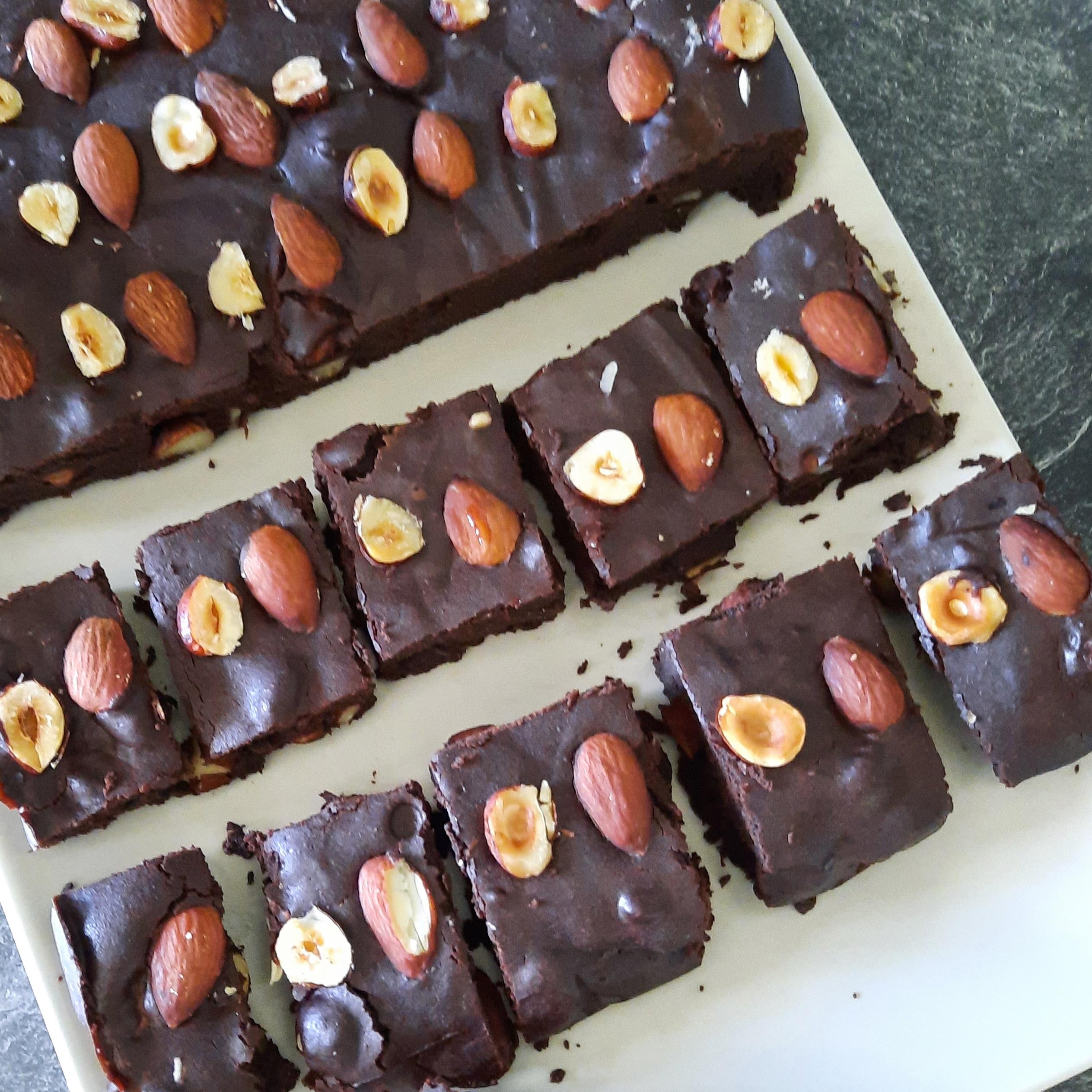 Brownie fondant healthy