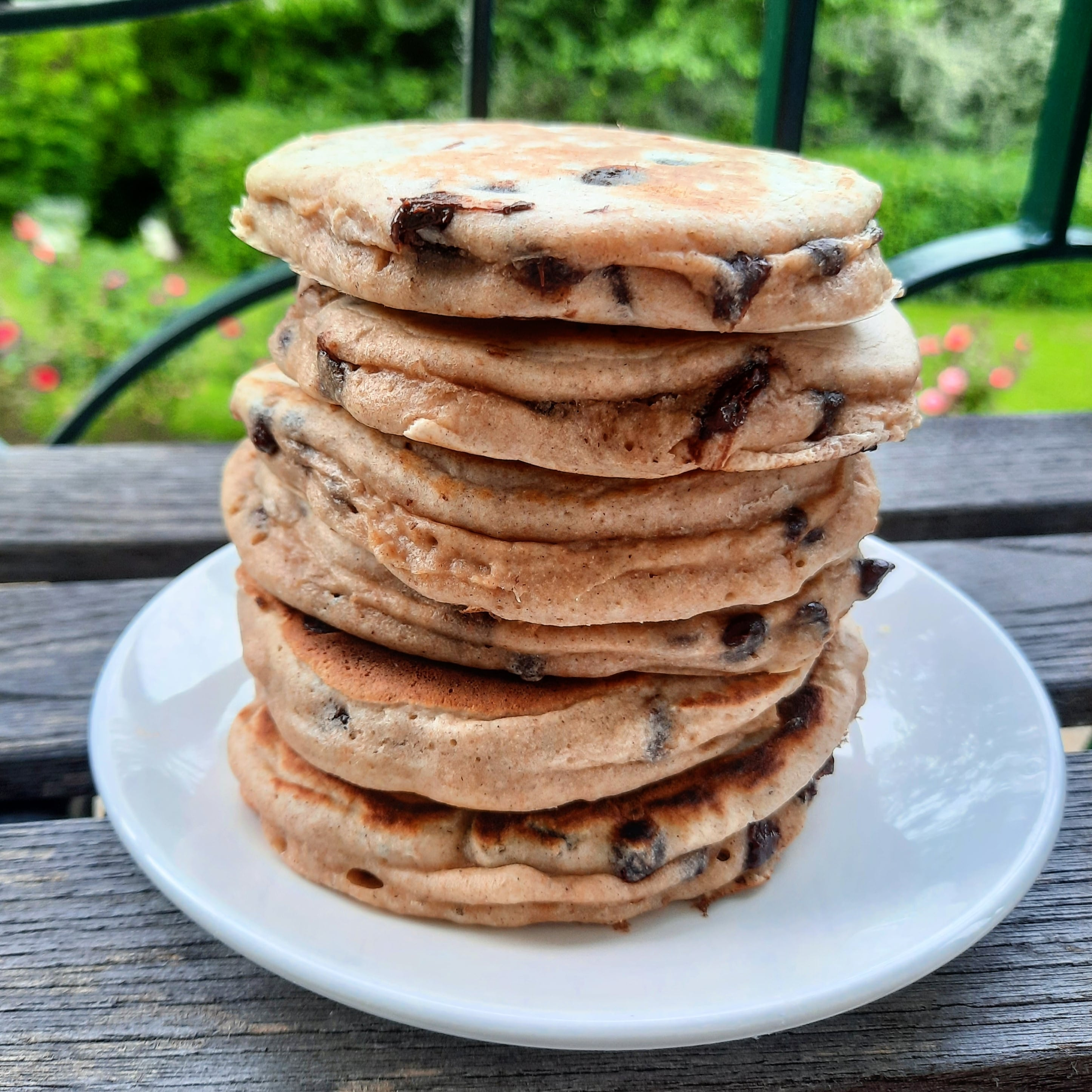 Pancakes aux pépites de chocolat IG Bas