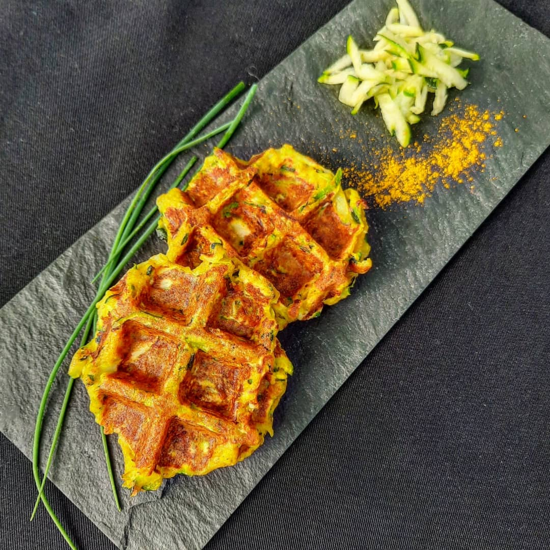 gaufres courgettes curry