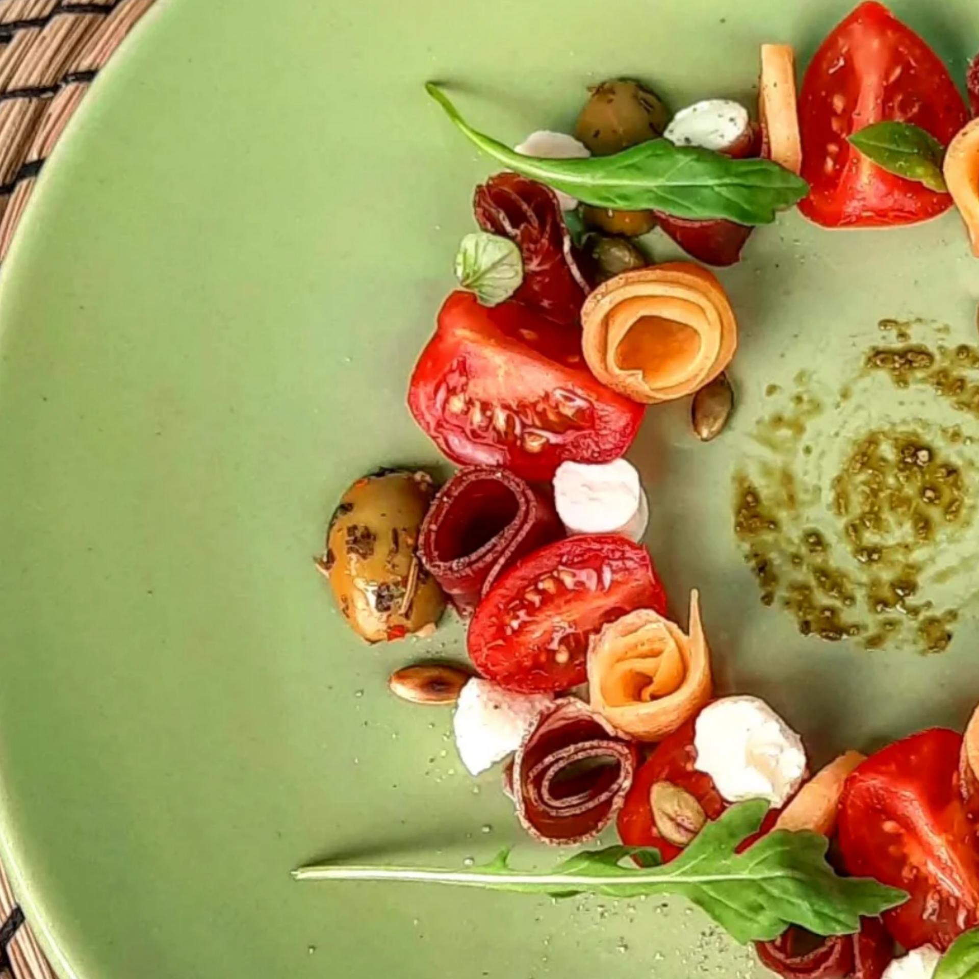 Salade melon tomates mozzarella