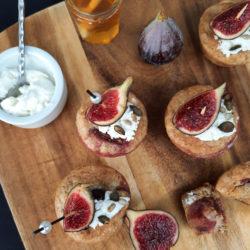Muffins chèvre figues